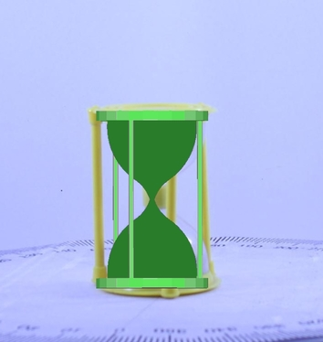 hourglass superimposed